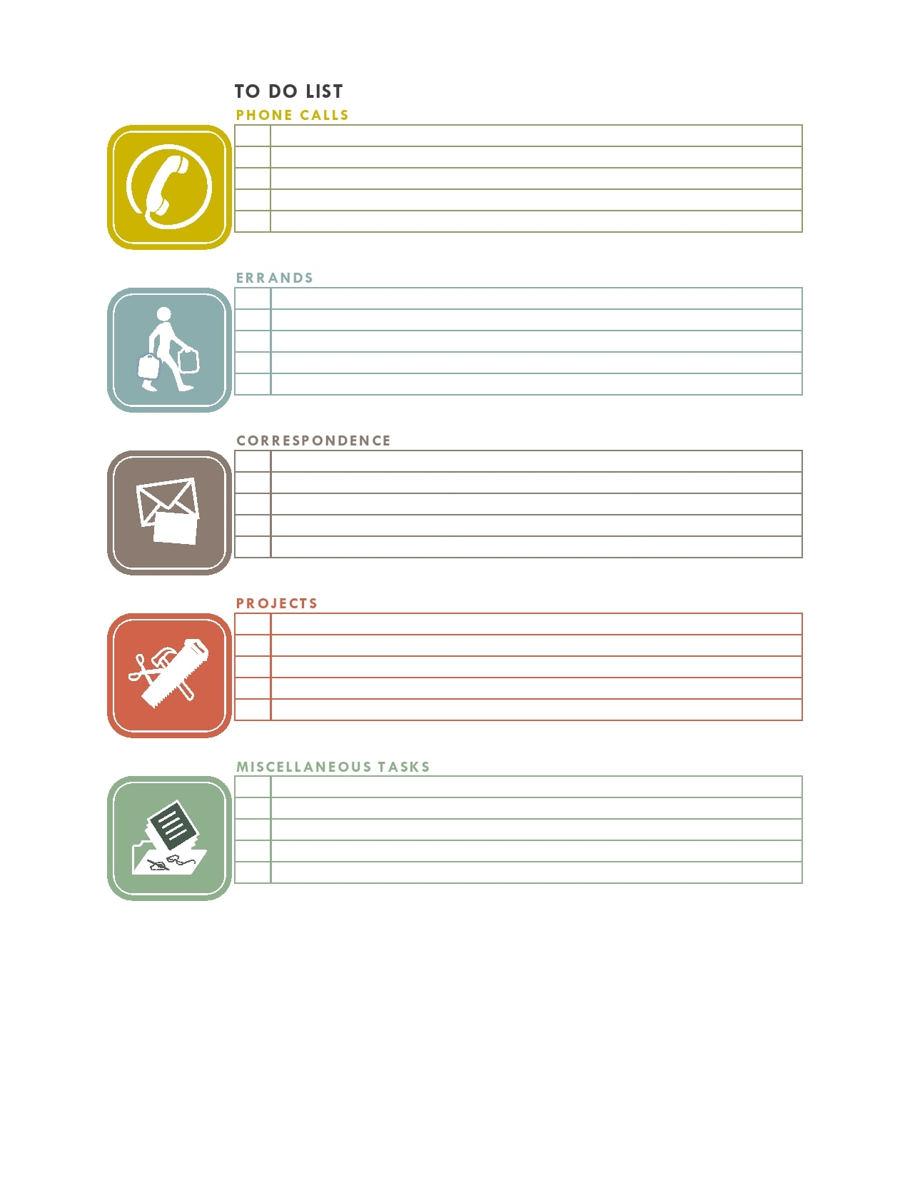 to do list template 30