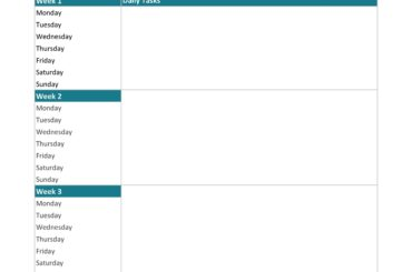 cleaning schedule template 07