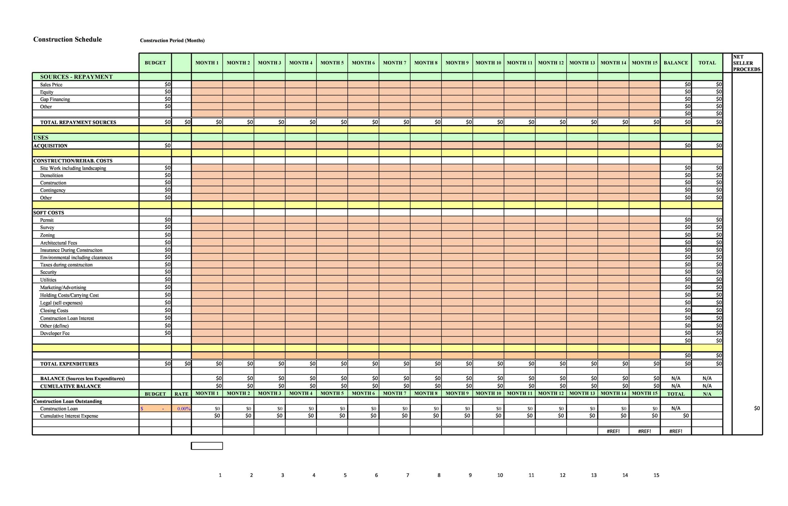 construction schedule 02