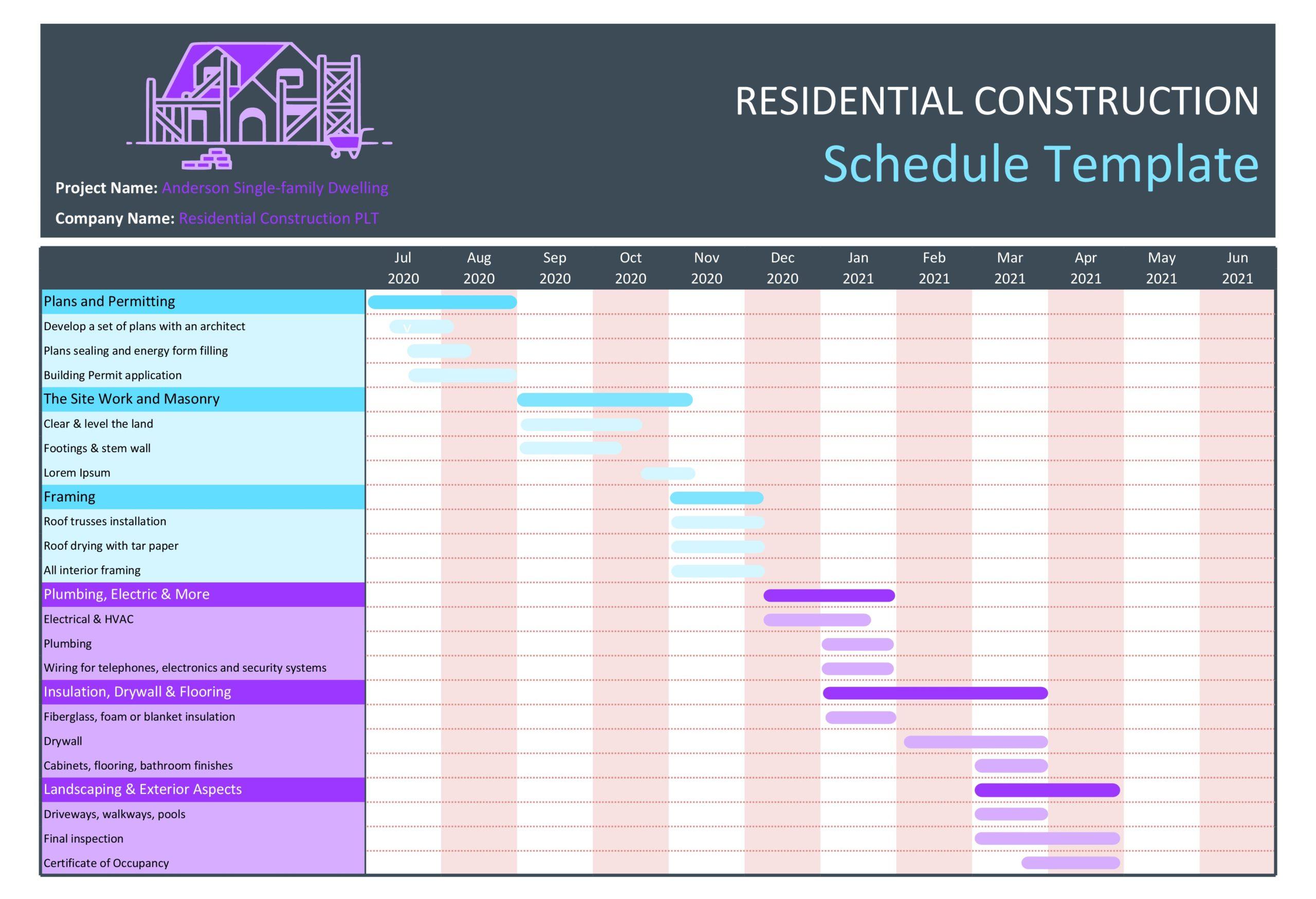 construction schedule 04