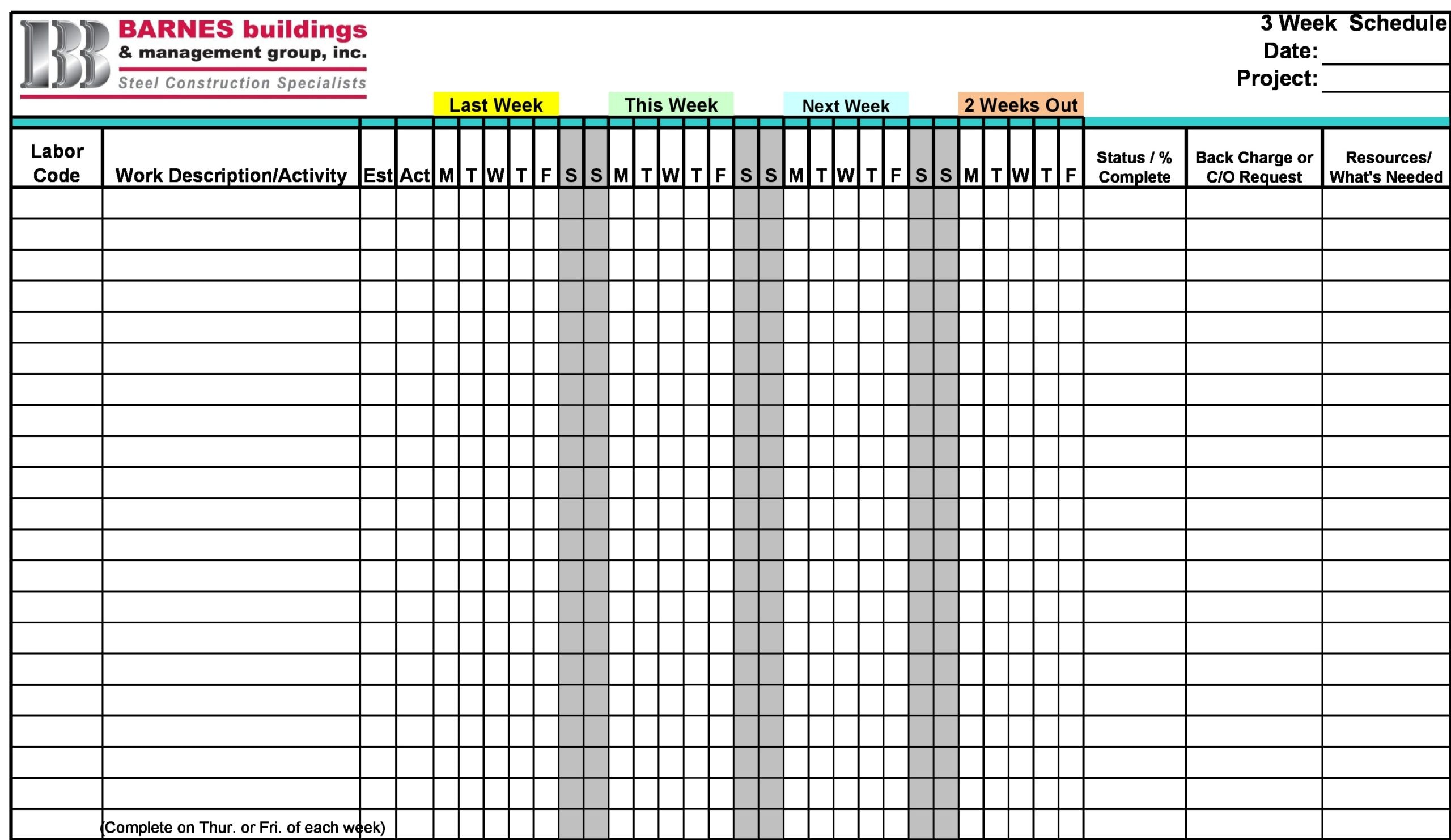 construction schedule 06