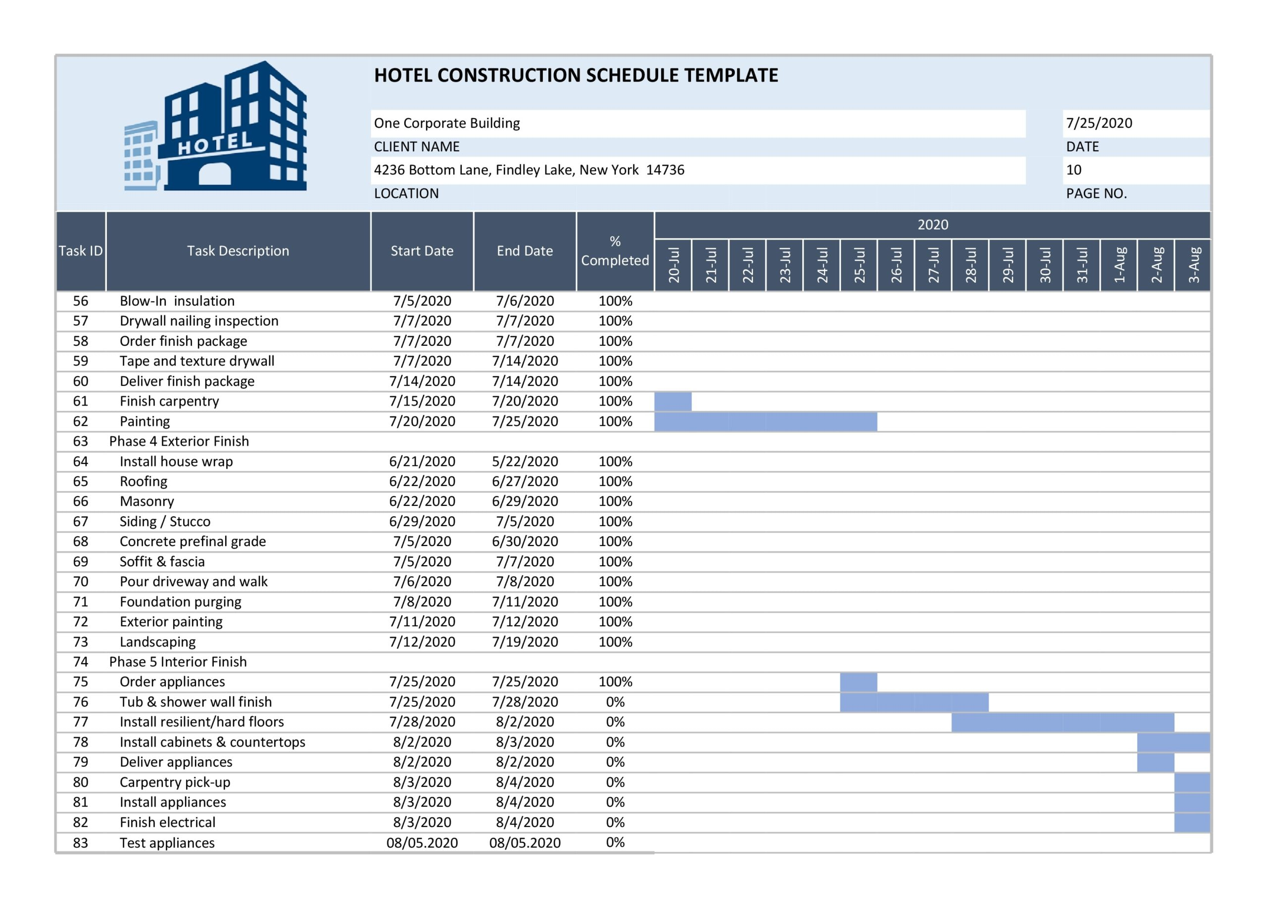 construction schedule 08