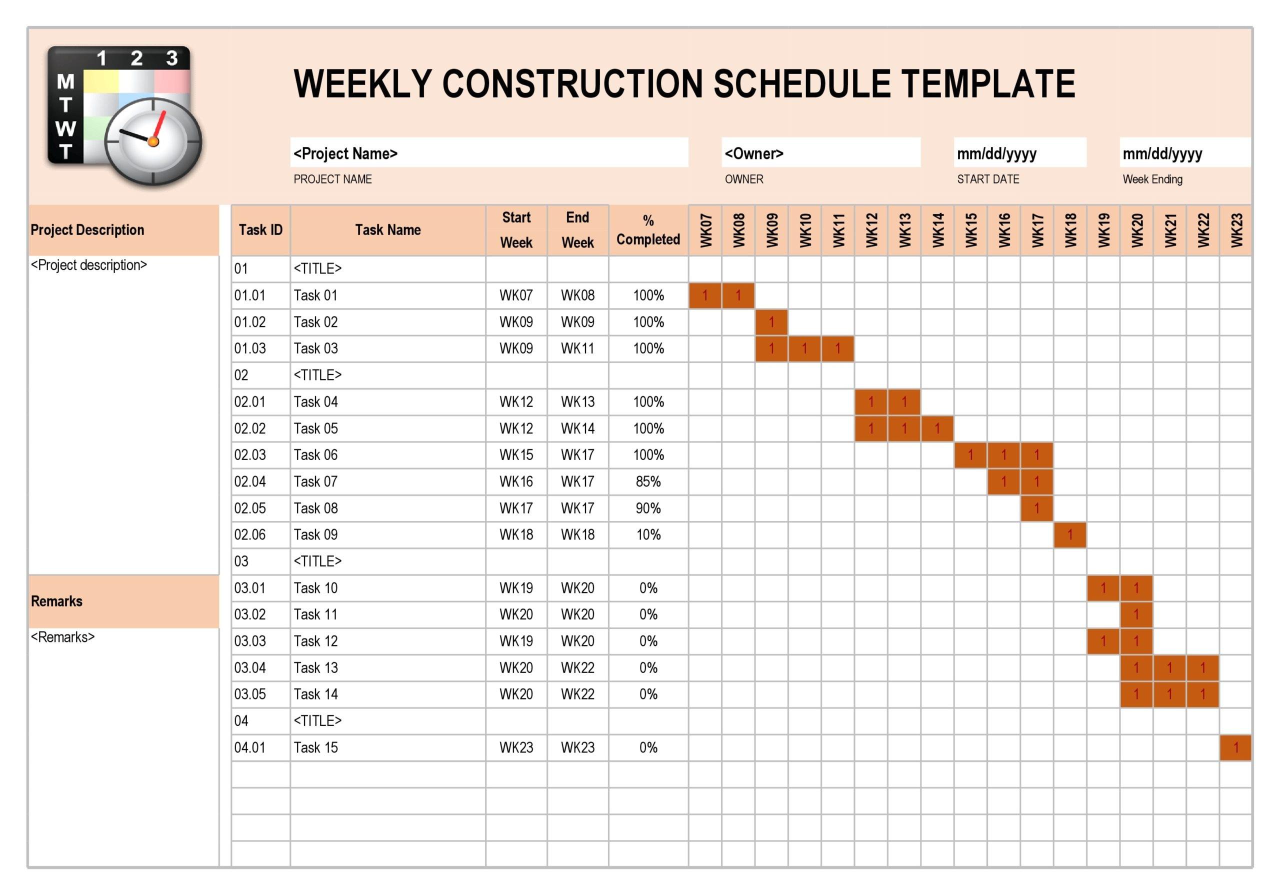 construction schedule 09