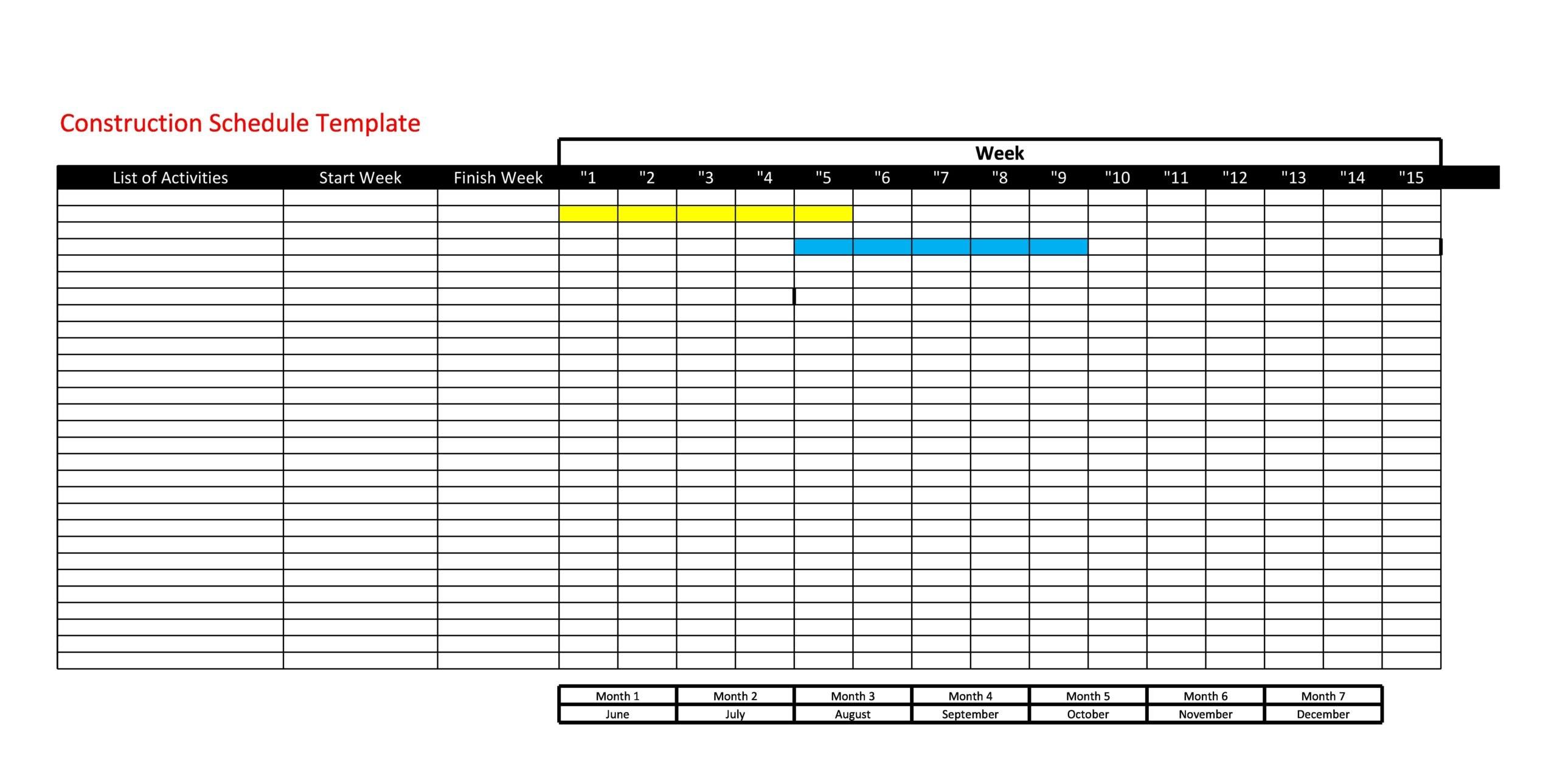construction schedule 16