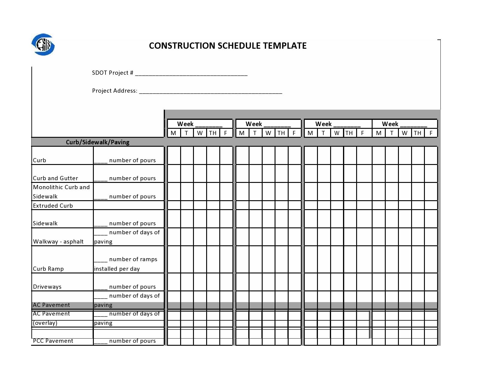 construction schedule 27