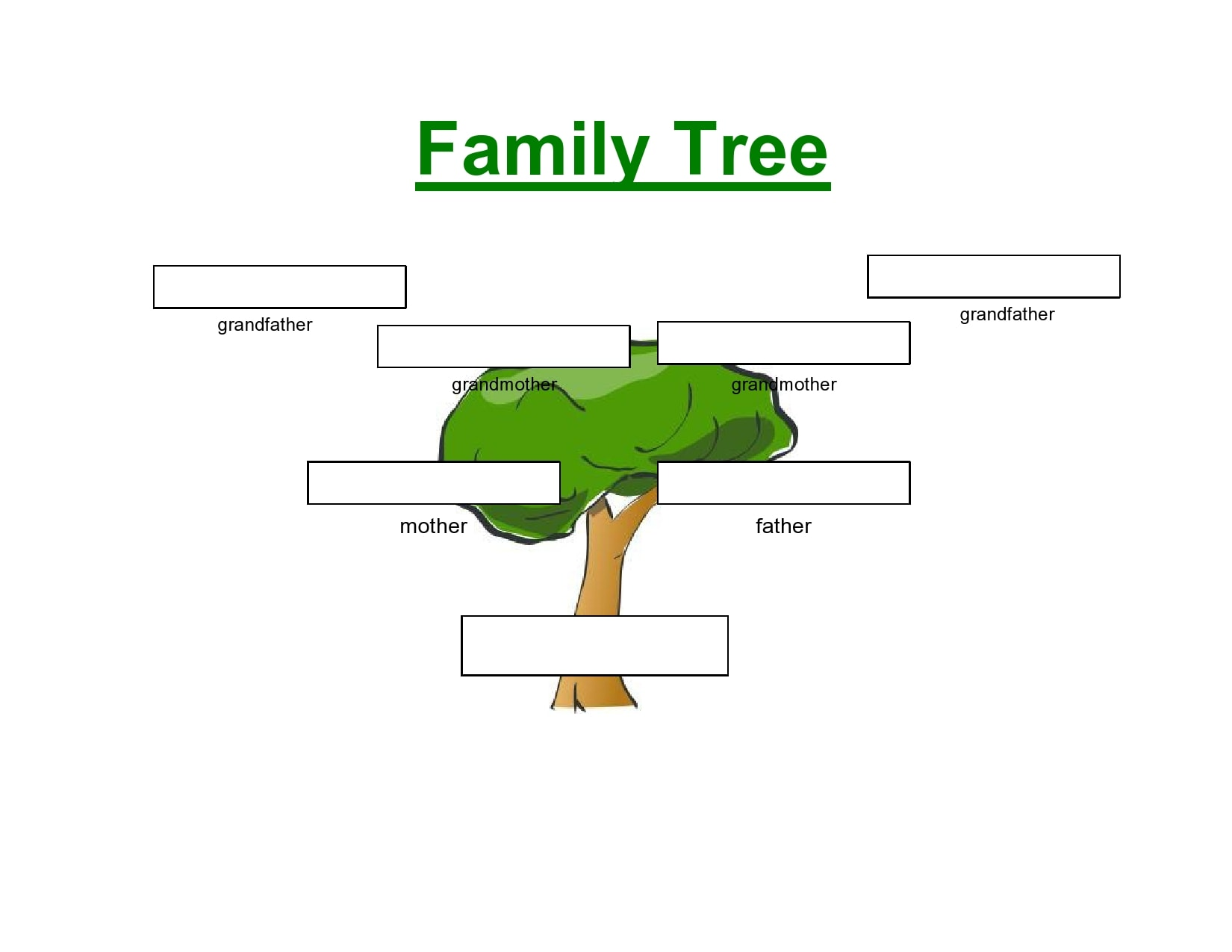 21 Editable Family Tree Templates [21% Free] - TemplateArchive For Fill In The Blank Family Tree Template