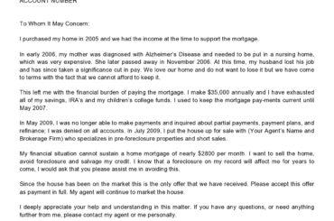 financial hardship letter 07