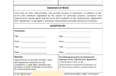 subcontractor agreement 16