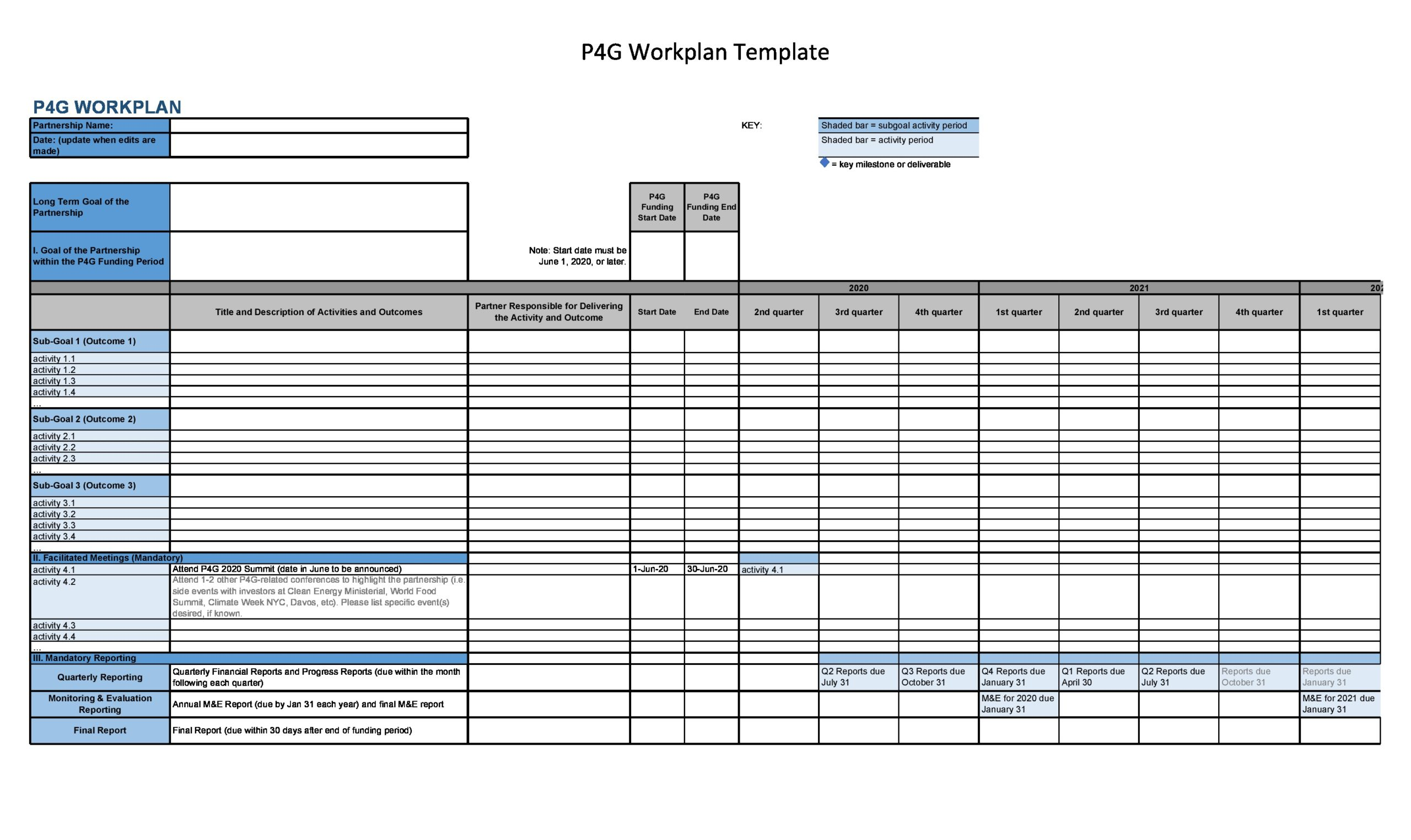 21 Simple Work Plan Templates (For Any Project) Pertaining To Work Plan Template Word