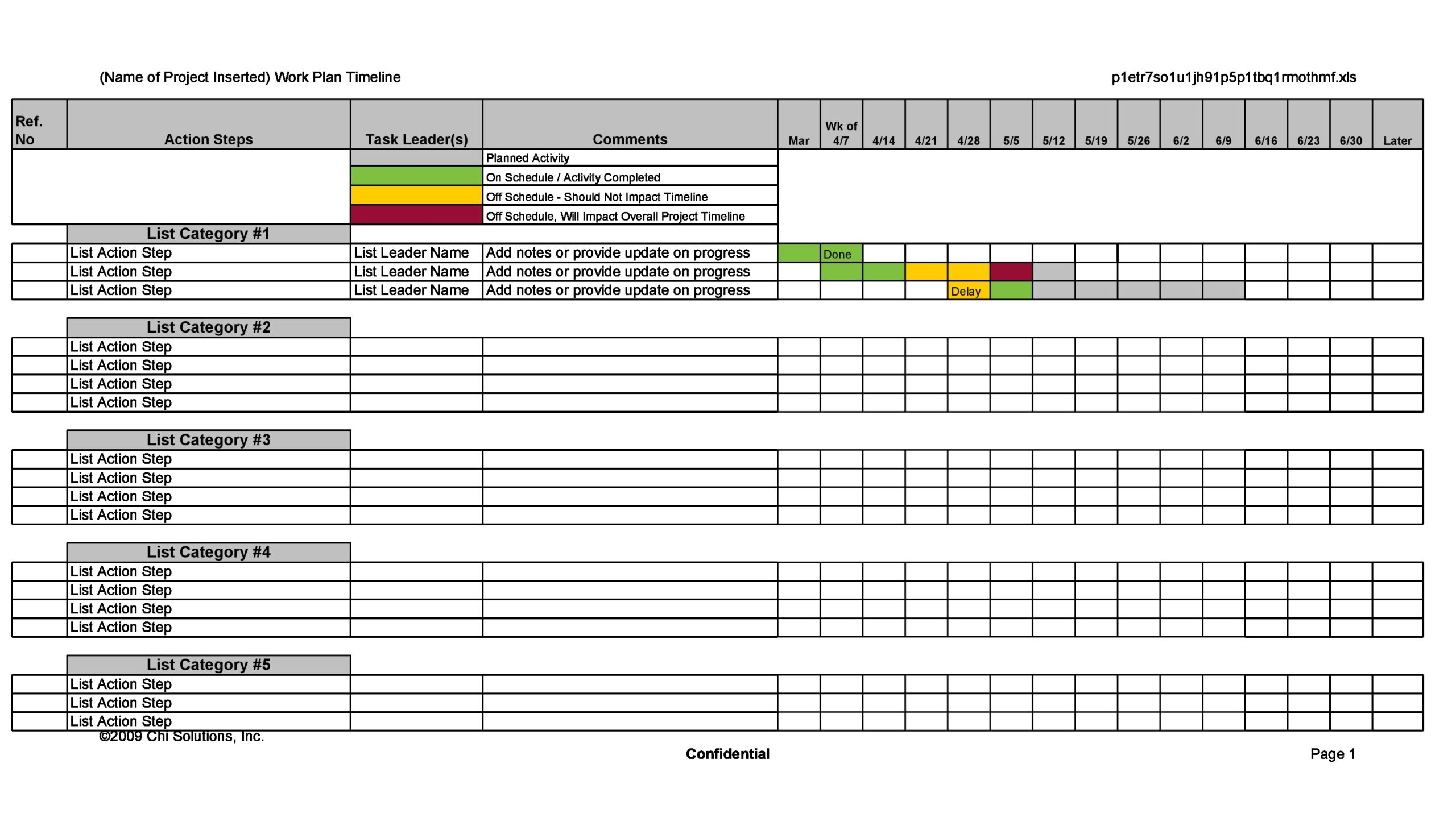21 Simple Work Plan Templates (For Any Project) For Work Plan Template Word