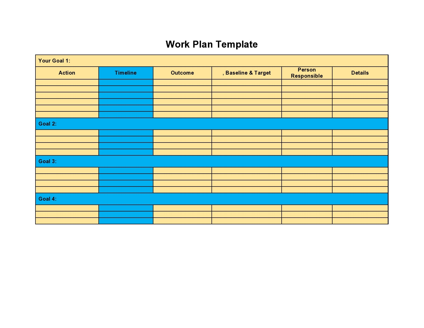 21 Simple Work Plan Templates (For Any Project) Inside Work Plan Template Word