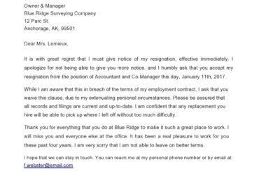 immediate resignation letter 19